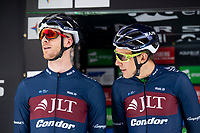 Picture by Allan McKenzie/SWpix.com - 15/05/2018 - Cycling - OVO Energy Tour Series Mens Race Round 2:Motherwell - Ed Clancy and Jon Mould.