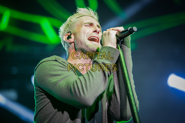LAS VEGAS, NV - December 30, 2015: ***HOUSE COVERAGE*** Adam Levine pictured as Maroon 5 performs at The Mandalay Bay Events Center at Mandalay Bay in Las vegas, NV on December 30, 2015. <br /> CAP/MPI/EKP<br /> &copy;EKP/MPI/Capital Pictures