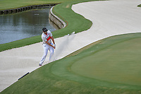Jon Rahm (ESP) hits from the trap on 11 during round 3 of The Players Championship, TPC Sawgrass, at Ponte Vedra, Florida, USA. 5/12/2018.<br /> Picture: Golffile | Ken Murray<br /> <br /> <br /> All photo usage must carry mandatory copyright credit (&copy; Golffile | Ken Murray)