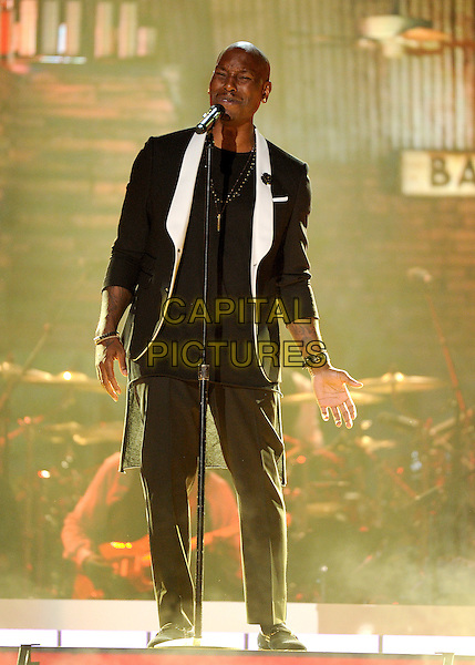 LAS VEGAS, NV - NOVEMBER 6: Tyrese Gibson performs the 2015 Soul Train Awards at the Orleans Arena on November 6, 2015 in Las Vegas, Nevada.  <br /> CAP/MPI/PGFM<br /> &copy;PGFM/MPI/Capital Pictures