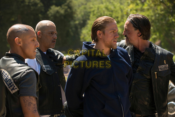 "Theo Rossi, David Labrava, Charlie Hunnam, Tommy Flanagan.in Sons of Anarchy (Series 5, Episode 5, ""Orca Shrugged"").*Filmstill - Editorial Use Only*.CAP/NFS.Supplied by Capital Pictures."