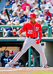 25 February 2019: Washington Nationals outfielder Juan Soto at bat during a pre-season Spring Training game against the Atlanta Braves at Champion Stadium in the ESPN Wide World of Sports Complex in Kissimmee, Florida. The Braves defeated the Nationals 9-4 in Grapefruit League play in what will be the Braves' last season at the Disney / ESPN Wide World of Sports complex. Mandatory Credit: Ed Wolfstein Photo *** RAW (NEF) Image File Available ***
