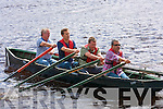 3523-3525.---------.Oarsmen - check number on this.-------.Taking to the waves in their Curragh last Sunday for the men's 4 hand race were Brandon local's(stern to Bow)Thomas Kennedy,Giles Harbourne,Nigel Tuffey(home from Canada specially for the Regatta)and Mike Tuffrey.