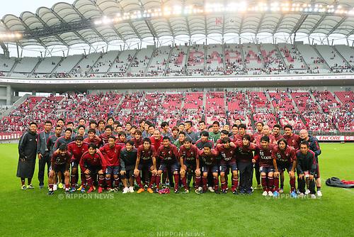 Antlers Legends team group,<br /> JULY 5, 2015 - Football / Soccer : <br /> A farewell game of Koji Nakata, Atsushi Yanagisawa and Toru Araiba <br /> at Kashima Soccer Stadium in Ibaraki, Japan. <br /> (Photo by Yohei Osada/AFLO SPORT)