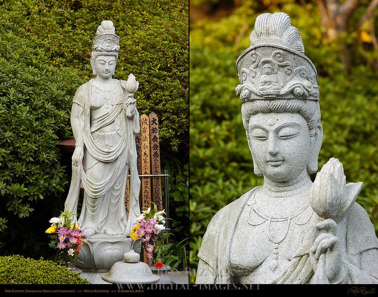 Sho-Kannon, Goddess of Mercy and Compassion, Ofuna Kannonji, Kamakura, Japan