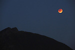 The Blood Moon rises over Mt. St; Image made from Snoqualmie  Point Park.