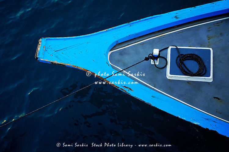 Bow of a traditional Dhoni Boat, Maldives.