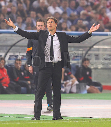 21.10.2014. Olimpic Stadium, Rome, Italy. UEFA Champions League football. Roma versus Bayern Munich.  Rudi Garcia coach AS Roma, looks dejected