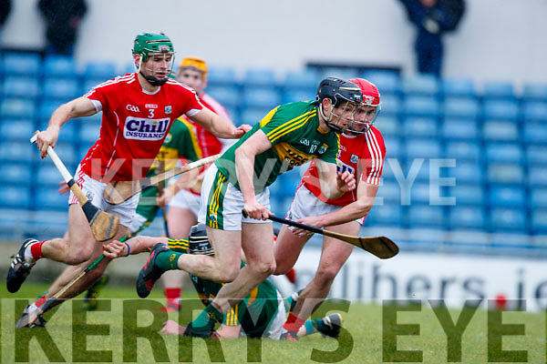 Colm Harty Kerry  in action against Greg Murphy Cork in the Co-op Superstores Munster Senior Hurling League on Sunday 14th January in Austin Stack Park, Tralee.