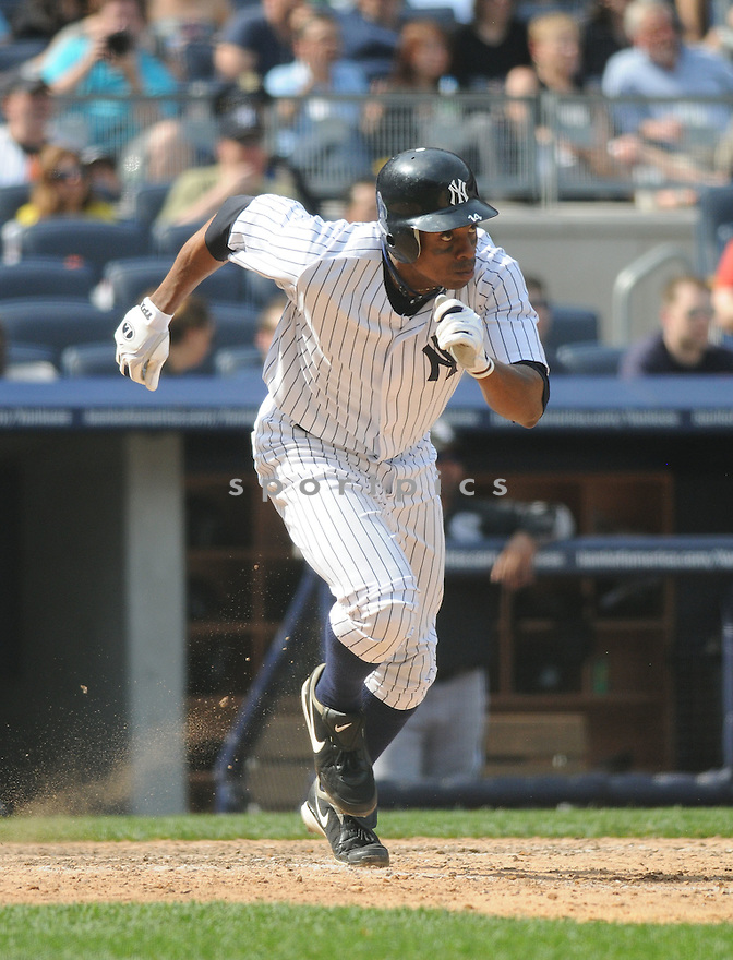 CURTIS GRANDERSON, of the New York Yankees, in action during the Yankees game against the Chicago White Sox  at  Yankee Stadium  on May 1, 2010...The White Sox win 7-6.