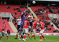 Dillon Phillips of Charlton Athletic  punches the ball clear during Charlton Athletic vs Preston North End, Sky Bet EFL Championship Football at The Valley on 3rd November 2019