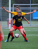 Action from the 2018-19 National Women's League football match between Capital and Canterbury at Memorial Park in Petone, Wellington, New Zealand on Saturday, 1 December 2018. Photo: Dave Lintott / lintottphoto.co.nz
