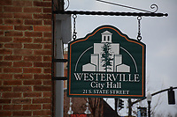 Signage on front of Wester Ville city hall.