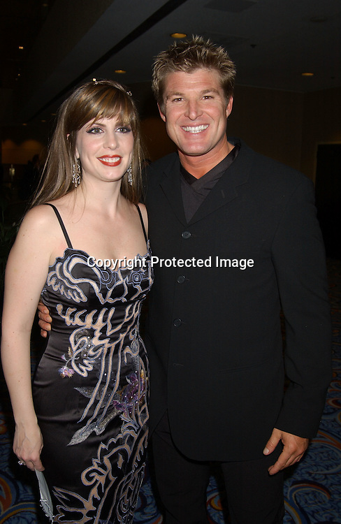 ..Martha Byrne and Windsor Harmon..at the Ninth Annual Daytime Television Salutes St. Jude ..Children's Research Hospital benefit in New York City on ..October 10, 2003 at the Marriott Marquis Hotel. ..Photo by Robin Platzer, Twin Images