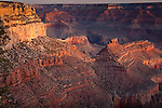 Sunrise on the Battleship formation in Grand Canyon National Park, AZ, USA