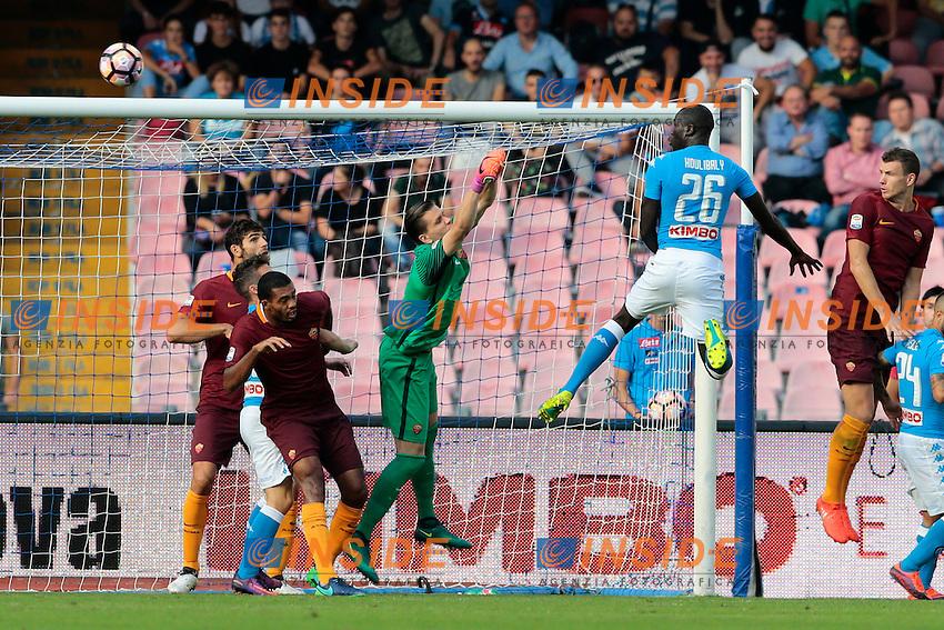 Gol di Kalidou Koulibaly Napoli, goal celebration <br /> Napoli 15-10-2016  Stadio San Paolo <br /> Campionato Serie A Napoli - AS Roma <br /> Foto Cesare Purini / Insidefoto
