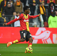 20181124 - LENS , FRANCE : Lens' Souleymane Diarra pictured during the soccer match between Racing Club de LENS and Grenoble Foot 38, on the 15th  matchday in the French Dominos pizza Ligue 2 at the Stade Bollaert Delelis stadium , Lens . Saturday 24 Novembre 2018 . PHOTO DIRK VUYLSTEKE | SPORTPIX.BE