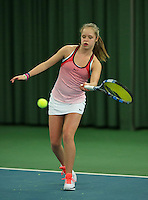 Rotterdam, The Netherlands, March 19, 2016,  TV Victoria, NOJK 14/18 years, Margriet Timmermans (NED)<br /> Photo: Tennisimages/Henk Koster