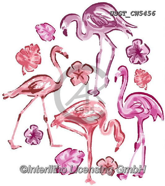Lamont, GIFT WRAPS, GESCHENKPAPIER, PAPEL DE REGALO, paintings+++++,USGTCW5456,#gp#, EVERYDAY ,notebook,notebooks,flamingo,flamingos ,sticker,stickers