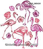 Lamont, GIFT WRAPS, GESCHENKPAPIER, PAPEL DE REGALO, paintings+++++,USGTCW5456,#gp#, EVERYDAY ,notebook,notebooks,flamingo,flamingos ,sticker,stickers