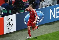 FUSSBALL   CHAMPIONS LEAGUE  VIERTELFINAL RUECKSPIEL   2011/2012      FC Bayern Muenchen - Olympic Marseille          03.04.2012 JUBEL FC Bayern Muenchen; Torschuetze zum 2-0 Ivica Olic