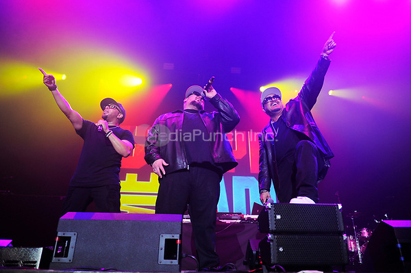 LONDON, ENGLAND - SEPTEMBER 29: Adam Emil, Bryan Abrams and Mark Calderon of 'Color Me Badd' performing during 'I Love The 90's' at SSE Arena on September 29, 2017 in London, England.<br /> CAP/MAR<br /> &copy;MAR/Capital Pictures /MediaPunch ***NORTH AND SOUTH AMERICAS ONLY***
