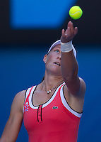 Samantha Stosur AUS (13) against  Serena Williams (USA)  (1)  in the Fourth Round of the Womens singles. Williams beat Stosur 6-4 6-2..International Tennis - Australian Open Tennis - Monday 25 Jan 2010 - Melbourne Park - Melbourne - Australia ..© Frey - AMN Images, 1st Floor, Barry House, 20-22 Worple Road, London, SW19 4DH.Tel - +44 20 8947 0100.mfrey@advantagemedianet.com