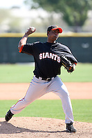 Audy Santana, San Francisco Giants 2010 minor league spring training..Photo by:  Bill Mitchell/Four Seam Images.