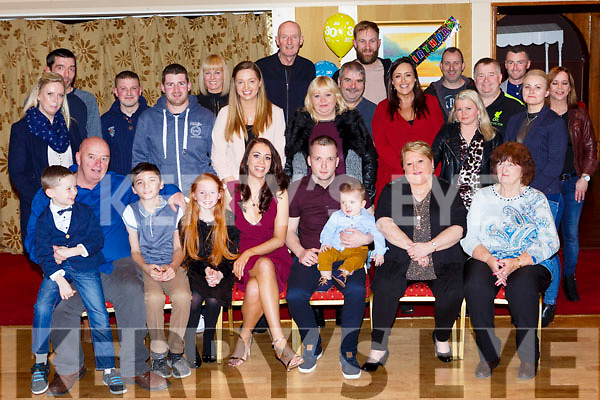 Shane McCormack Aghadoe who celebrated his 30th birthday with his family and friends in the Killarney Avenue Hotel on Saturday night