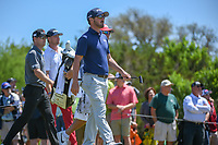 Lead group Andrew Landry (USA), Zach Johnson (USA), and Trey Mullinax (USA) depart the tee on 3 during Round 4 of the Valero Texas Open, AT&amp;T Oaks Course, TPC San Antonio, San Antonio, Texas, USA. 4/22/2018.<br /> Picture: Golffile | Ken Murray<br /> <br /> <br /> All photo usage must carry mandatory copyright credit (&copy; Golffile | Ken Murray)