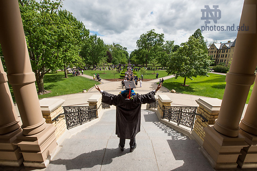 May 21, 2017; 2017 Commencement.  (Photo by Barbara Johnston/University of Notre Dame)