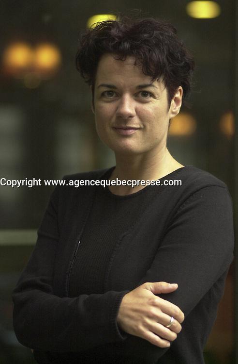August 2002 File Photo of film maker Manon Briand (La Turbulence des Fluides) Photo by Pierre Roussel
