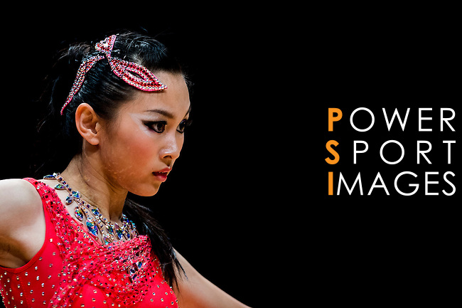 Hei-Yu Gladys Wong of Hong Kong during the Hong Kong Open Latin - Age 15 or below on the Day 2 of the WDSF GrandSlam Hong Kong 2014 on June 01, 2014 at the Queen Elizabeth Stadium Arena in Hong Kong, China. Photo by AItor Alcalde / Power Sport Images