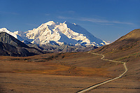 Mt. Denali, From Stony Dome Turnout Along The Denali Park Road. Denali National Park, Alaska