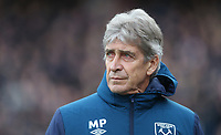 West Ham United manager Manuel Pellegrini <br /> <br /> Photographer Rob Newell/CameraSport<br /> <br /> The Premier League - Saturday 9th February 2019  - Crystal Palace v West Ham United - Selhurst Park - London<br /> <br /> World Copyright © 2019 CameraSport. All rights reserved. 43 Linden Ave. Countesthorpe. Leicester. England. LE8 5PG - Tel: +44 (0) 116 277 4147 - admin@camerasport.com - www.camerasport.com