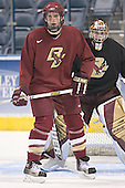 Andrew Orpik, Adam Reasoner - The Boston College Eagles practiced at the Bradley Center in Milwaukee, Wisconsin, on April 7, 2006 in preparation for the 2006 Frozen Four Final game vs. the University of Wisconsin on April 8, 2006.