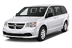 2018 Dodge Grand-Caravan SE 5 Door Minivan Angular Front stock photos of front three quarter view