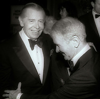 Milton Berle and Red Buttons 1984<br /> Photo By John Barrett/PHOTOlink