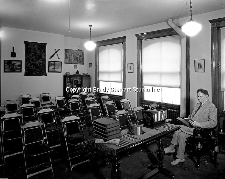 Pittsburgh PA: Professor preparing for the next class  - 1932
