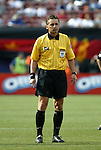 17 April 2004: Referee Alex Prus during the first half. The MetroStars defeated DC United 3-2 at Giants Stadium in East Rutherford, NJ during a regular season Major League Soccer game..