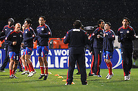 Costa Rica National team at pre-game warm ups.   The USMNT tied Costa Rica 2-2 on the final game of the 2010  FIFA World Cup Qualifying round at RFK Stadium,Wednesday  October 14 , 2009.