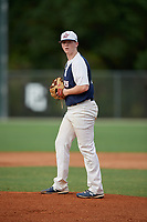 Shane Panzini (33) during the WWBA World Championship at the Roger Dean Complex on October 11, 2019 in Jupiter, Florida.  Shane Panzini attends Red Bank Catholic High School in Spring Lake, NJ and is committed to Virginia.  (Mike Janes/Four Seam Images)