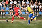 2018-06-27 / Voetbal / Seizoen 2018-2019 / KFC Brasschaat - R. Antwerp FC / Ivo Rodrigues (l. Antwerp) met Thomas Mathieu<br /> <br /> ,Foto: Mpics