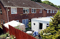 Tuesday 20 June 2017<br /> Pictured: The rear garden of Darren Osborne's house in the Pentwyn area of  Cardiff, Wales, UK<br /> Re: The man who drove the vehicle which drove into worshippers near a north London mosque has been named as Darren Osborne from Cardiff, South Wales