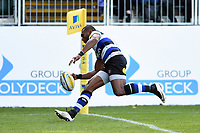 Semesa Rokoduguni of Bath Rugby scores a try in the second half. Aviva Premiership match, between Bath Rugby and Newcastle Falcons on September 23, 2017 at the Recreation Ground in Bath, England. Photo by: Patrick Khachfe / Onside Images