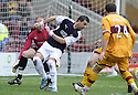 03/04/2010   Copyright  Pic : James Stewart.sct_jspa05_motherwell_v_falkirk  .::  PEDRO MOUTINHO BACK FLIPS THE BALL TO RYAN FLYNN TO SCORE FALKIRK'S FIRST ::  .James Stewart Photography 19 Carronlea Drive, Falkirk. FK2 8DN      Vat Reg No. 607 6932 25.Telephone      : +44 (0)1324 570291 .Mobile              : +44 (0)7721 416997.E-mail  :  jim@jspa.co.uk.If you require further information then contact Jim Stewart on any of the numbers above.........