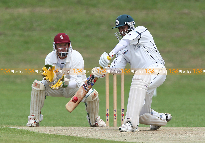 Anand Krishnan in batting action for Ardleigh Green as Ben Cocklin keeps wicket for Brentwood - Ardleigh Green CC vs Brentwood CC - Essex Cricket League - 13/06/09 - MANDATORY CREDIT: Gavin Ellis/TGSPHOTO - Self billing applies where appropriate - 0845 094 6026 - contact@tgsphoto.co.uk - NO UNPAID USE.