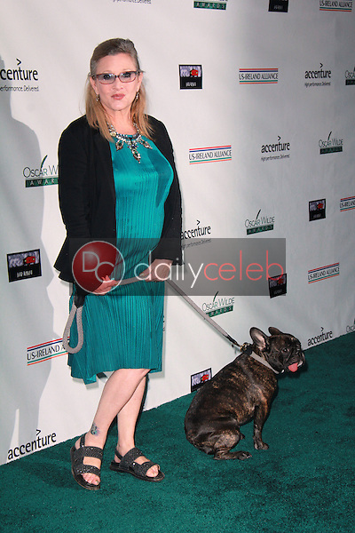 Carrie Fisher<br /> at the Oscar Wilde US-Ireland Pre-Academy Awards Event, Bad Robot, Santa Monica, CA 02-19-15<br /> David Edwards/DailyCeleb.com 818-249-4998