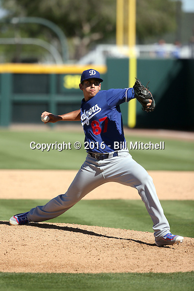 Jose De Leon - Los Angeles Dodgers 2016 spring training (Bill Mitchell)