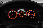 Instrument panel close up detail view of a 2009 Nissan Altima Hybrid